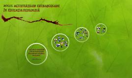 Rolul activităţilor extraşcolare în educaţia ecologică