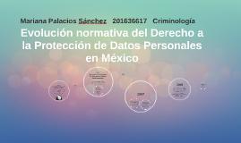 Modulo 2 :Línea del tiempo de Protección de Datos. Palacios Sánchez