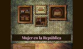Mujer en la República