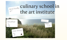 school of arts: culinary division