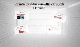 Svenskans status som officiellt språk i Finland