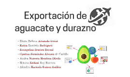 Aguacate y durazno