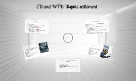 EU and WTO Dispute settlement