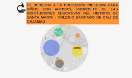 EL DERECHO A LA EDUCACIÓN INCLUSIVA PARA NIÑOS CON AUTISMO,