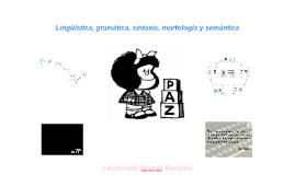 Lingüística, gramática, morfología, sintaxis y semántica