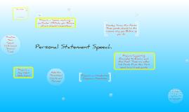 Personal Statement Speech