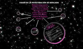PASOS DE LA INVESTIGACIÓN DE MERCADO