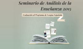 Seminario de Análisis de la Enseñanza 2015