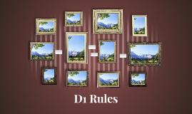 D1 Rules