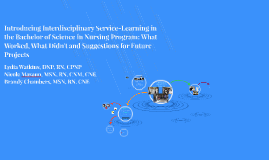 Introducing Interdisciplinary Service-Learning in the Bachel