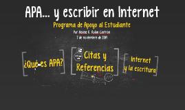APA y escribir en Internet