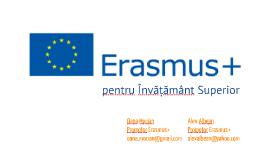 Oana Mocian & Alexandru Albean: Prezentare Promotori Erasmus+ 2016