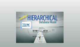 Hierarchical Database Model [Team DROP-B]