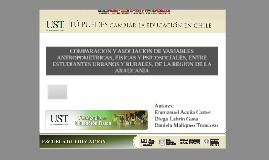 COMPARACION Y ASOCIACION DE VARIABLES ANTROPOMETRICAS, FISIC