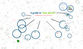 A guide to 'One Search' at ITB Library