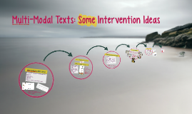 Multi-Modal Texts: Some Intervention Ideas