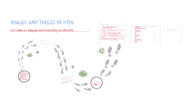 IMAGES AND TABLES IN HTML