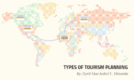 TYPES OF TOURISM PLANNING