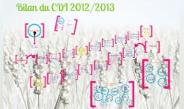 Bilan du CDI 2012/2013
