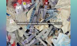 residuos solidos hospítalario