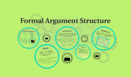 Formal Argument Structure