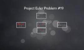 Project Euler Problem #19