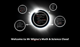 Welcome to Mr Wigno's Math Class!