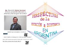 Perspectivas de la Educación a Distancia en Argentina