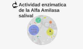Actividad enzimatica de la Alfa Amilasa salival