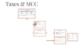 Taxes & MCC