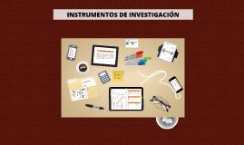 Copy of Instrumentos de investigación