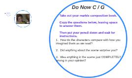 Do Now C / G
