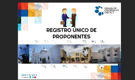 Copia de Registro Único de proponentes