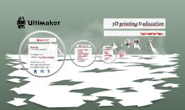 3D printen & het onderwijs
