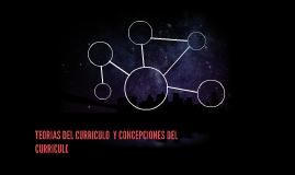 TERORIAS DEL CURRICULO Y CONCEPCIONES CURRICULARES