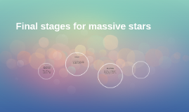 Final stages for massive stars