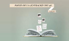 POESÍA DE LA GENERACIÓN DEL 98