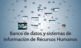 Banco de datos y sistemas de información de RH