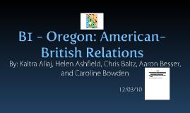 Oregon: American-British Relations