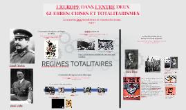 3ème - L'Europe dans l'entre-deux guerres et totalitarismes