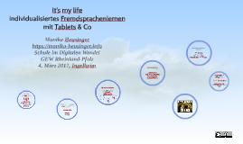 my life - individualisiertes Fremdsprachenlernen mit Ta