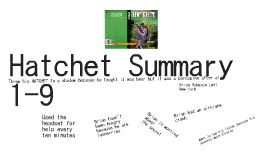 Hatchet Summary 1-9