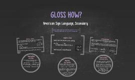 Copy of ASL Glossing