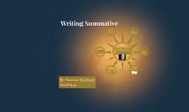Writing Summative