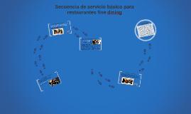 Copia de secuencia de servicio en restaurantes de especialidades