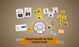 Organización de acto institucional