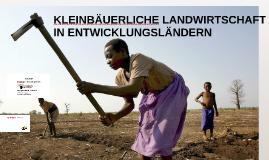 KLEINBÄUERLICHE LANDWIRTSCHAFT IN ENTWICKLUNGSLÄNDERN