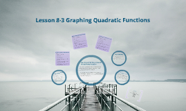 Lesson 8-3 Graphing Quadratic Functions