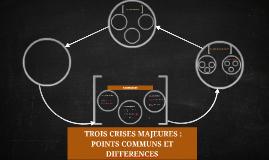 Copy of TROIS CRISES MAJEURES :