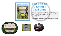 Bike Bells for Courteous Trail User